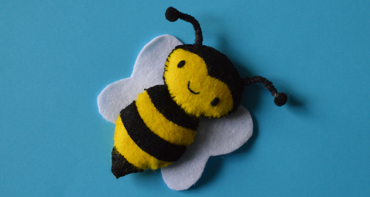 Felt Bee Template Freebie