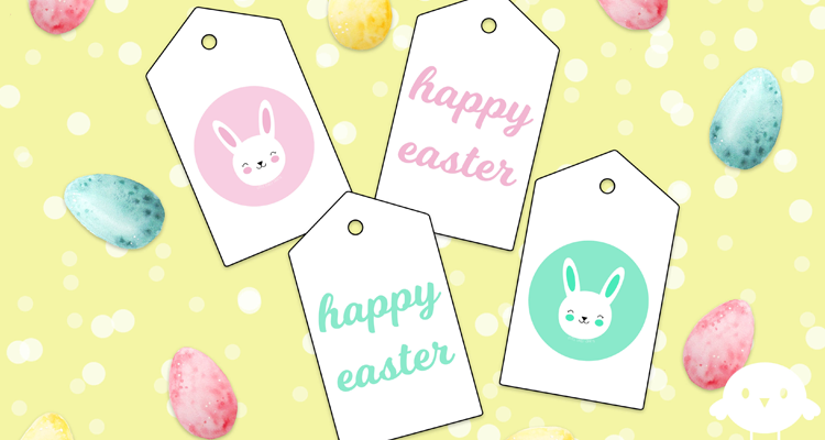 Wrapping paper little lovely crafts easter gift tags negle Choice Image