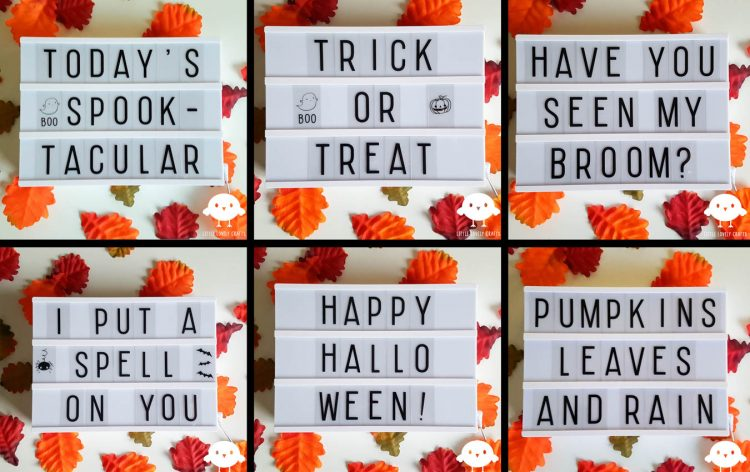 Lightbox Ideas For Halloween Little Lovely Crafts